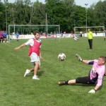 Trainings-Beobachtung durch Trainer Slomka